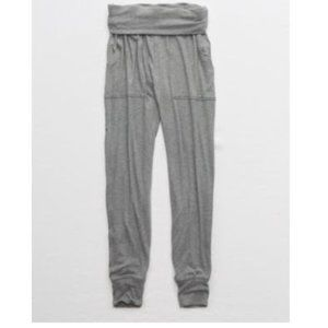 Aerie Real Soft Ribbed Nomad Pant - Gray